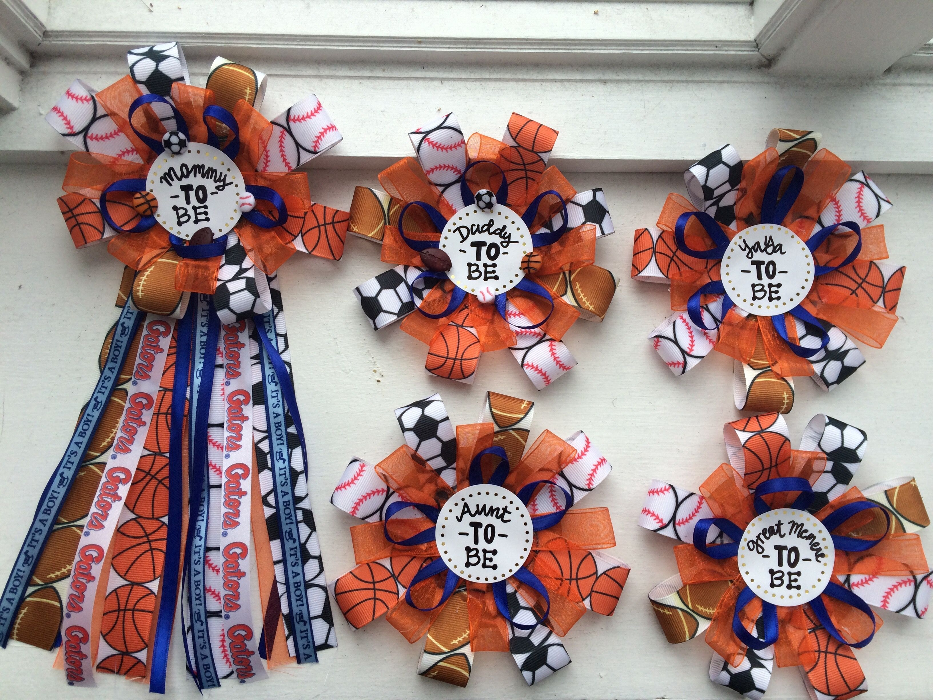 Mommy To Be Corsage Ribbons Diy Sports Theme Baby Showers It S A