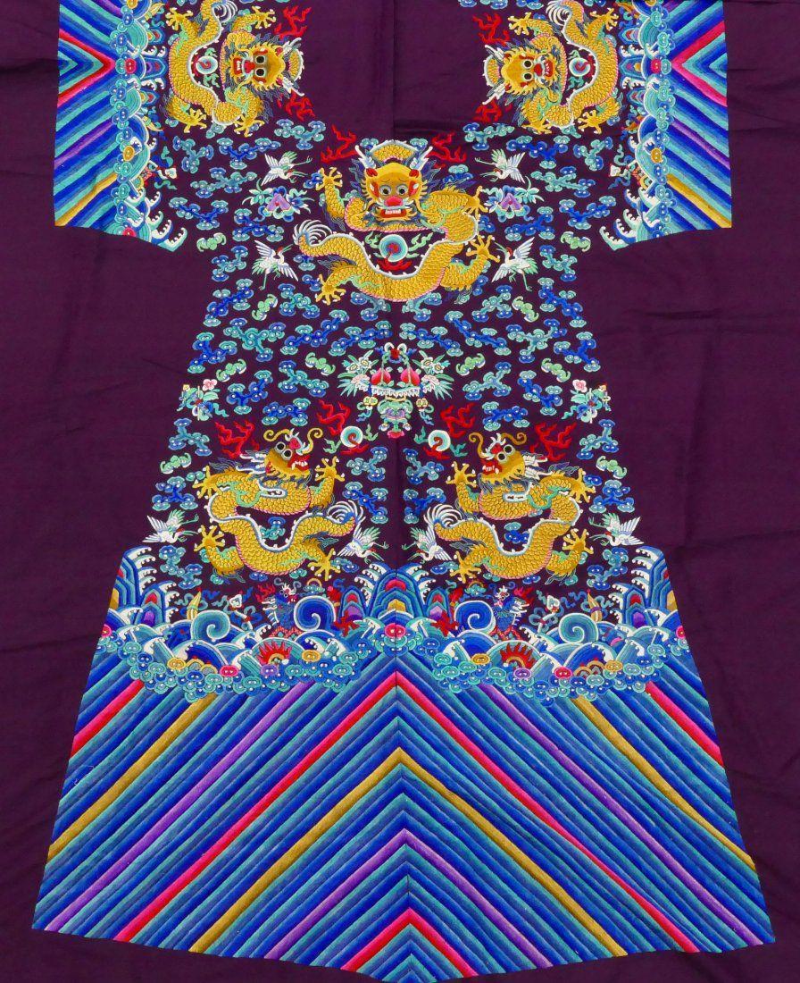 f1218da63567a Impressive Chinese Imperial Dragon Uncut Silk Robe | Dec 8 & 9 Top ...