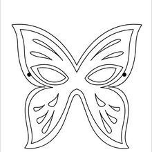 Butterfly Mask coloring page. We have selected this ...