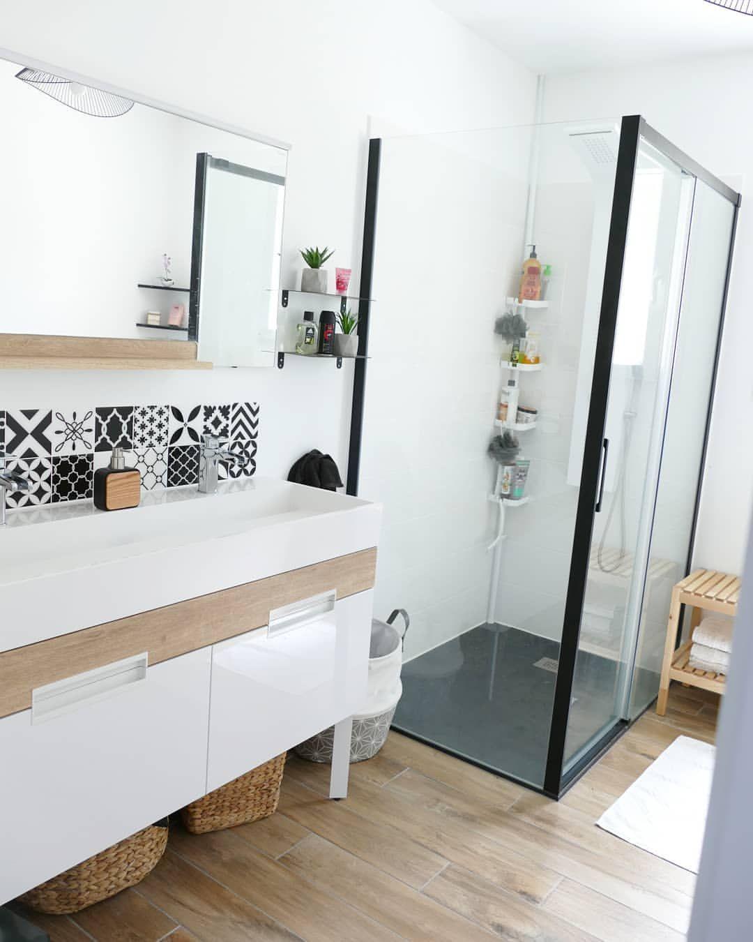 Bathroom Meuble Vasque Miroir Petite Etageres Noire Paroi De Douche Colonne De Douche Et Sol Leroyme Paroi De Douche Meuble Vasque Colonne De Douche