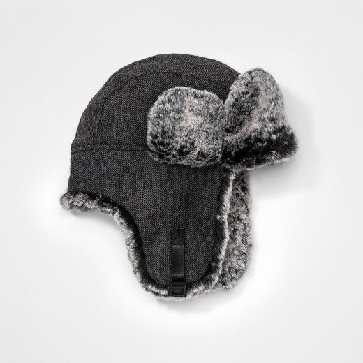 Boys' Faux Fur Trapper Hat - Cat & Jack Gray