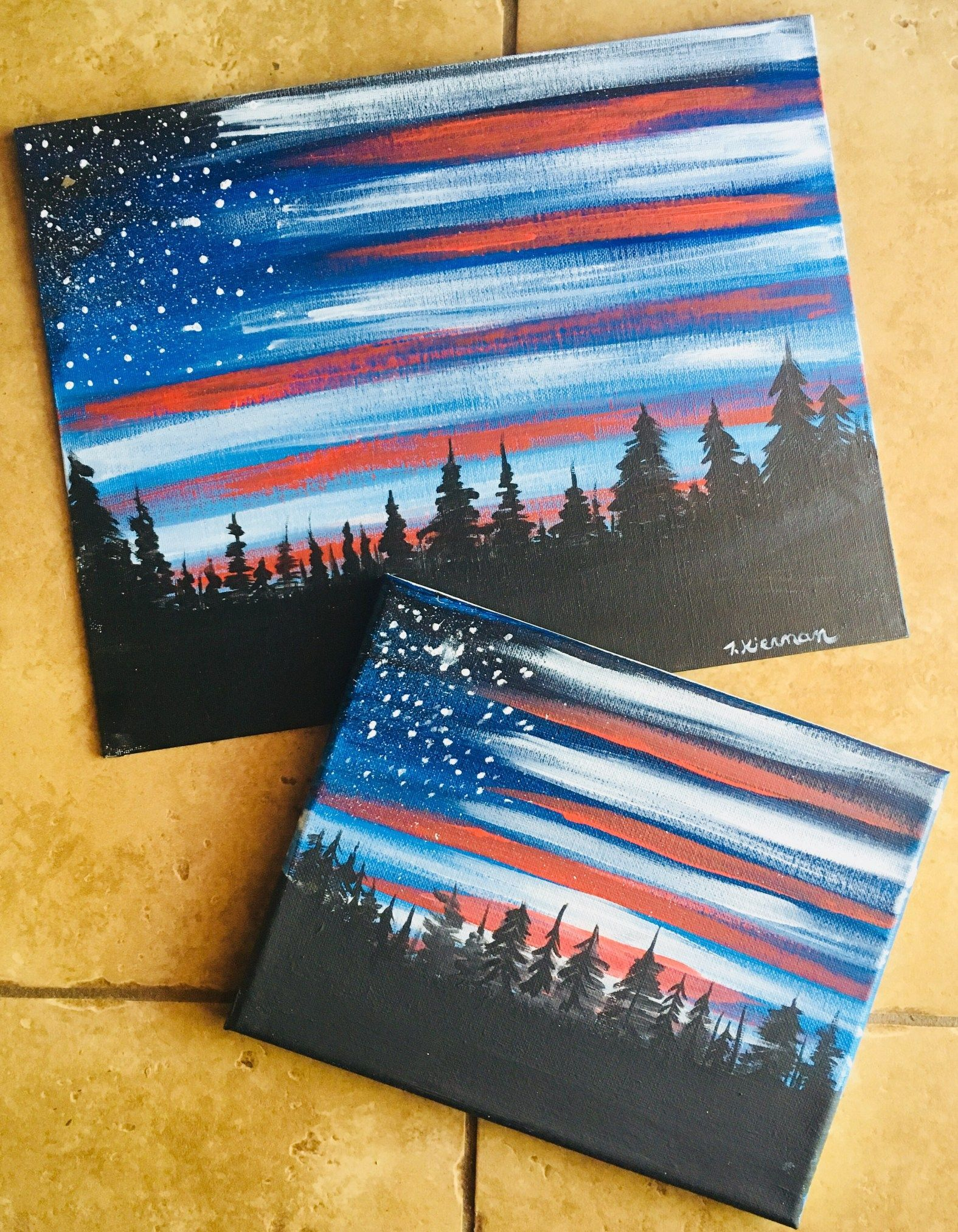 How To Paint American Flag Sky  Step By Step