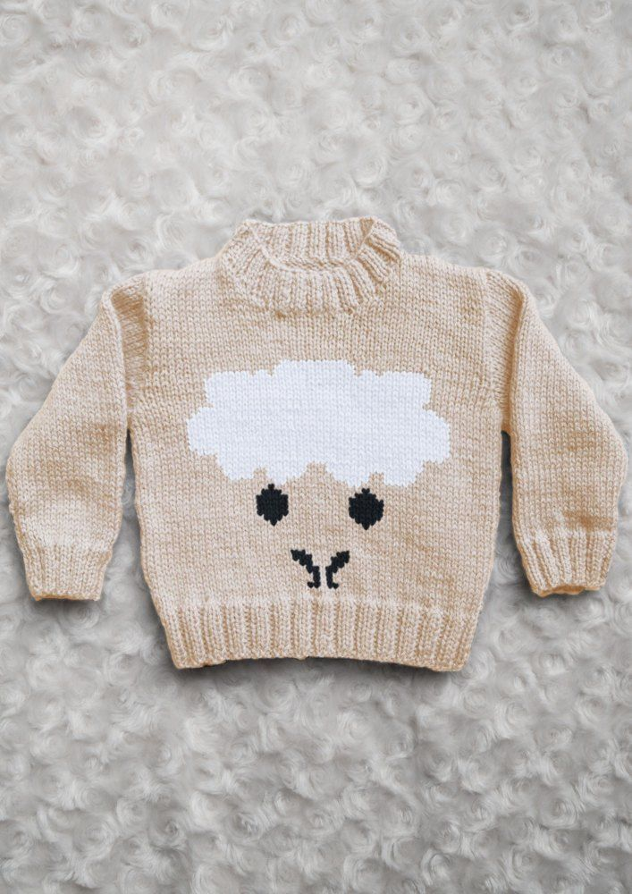 Intarsia - Sheep Face Chart & Childrens Sweater Knitting pattern by Instarsia #children'ssweaters