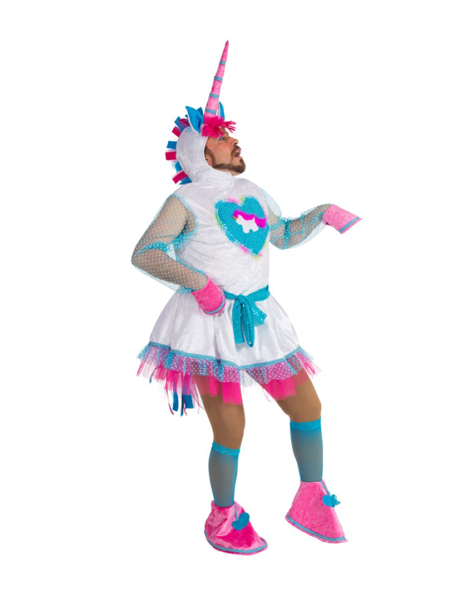 déguisement humoristique licorne homme unicorns and sh t