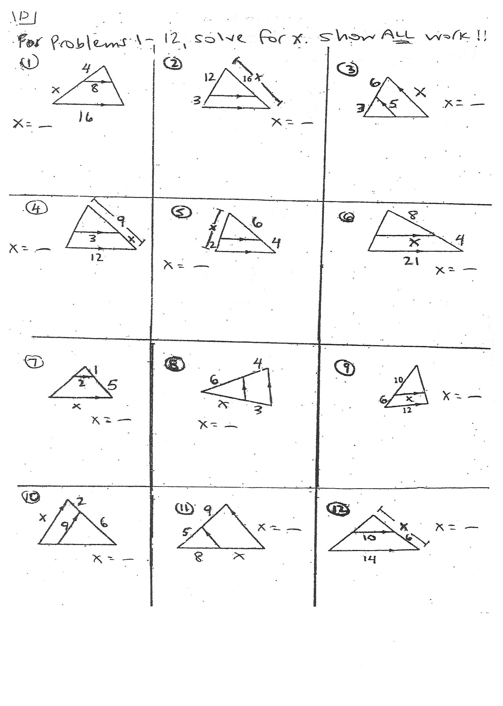 medium resolution of Geometry Similar Triangles Worksheet - Promotiontablecovers