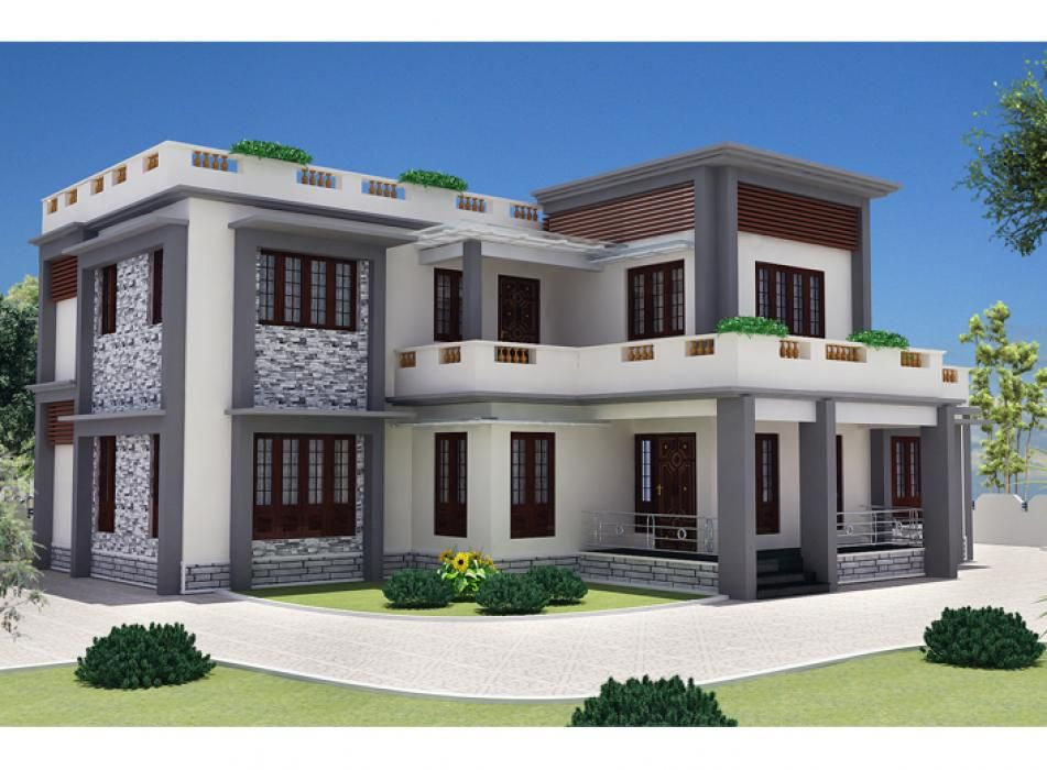 Indian 1874 Sqft Modern Contemporary 4 Bhk Villa Home Architecture Design |  Home | Pinterest | Free House Plans, Modern Contemporary And Architecture  Design