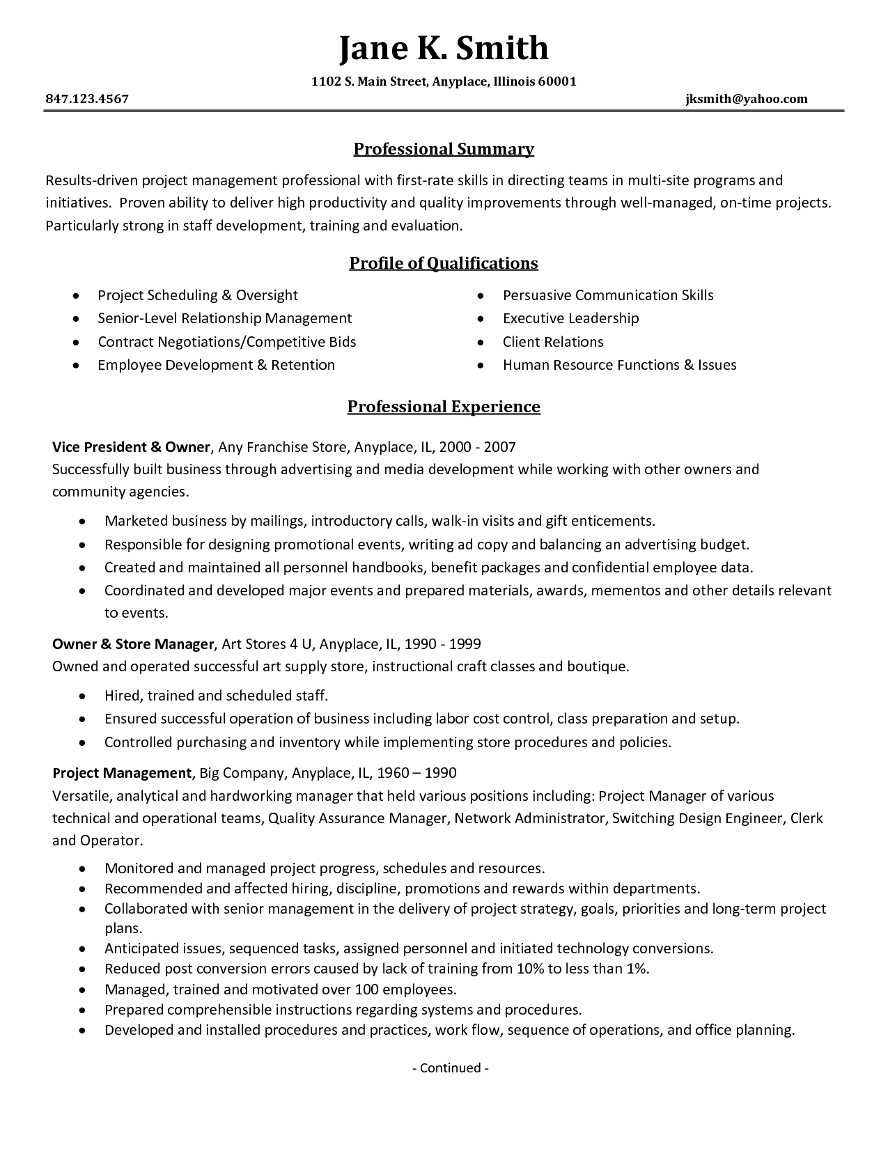 Business Consultant Job Description Resume | Sample Resume Center ...