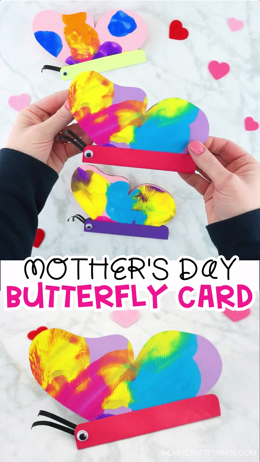 Basteln Spielgruppe Ideen How To Make A Butterfly Card With Colorful Paint Smash Butterfly