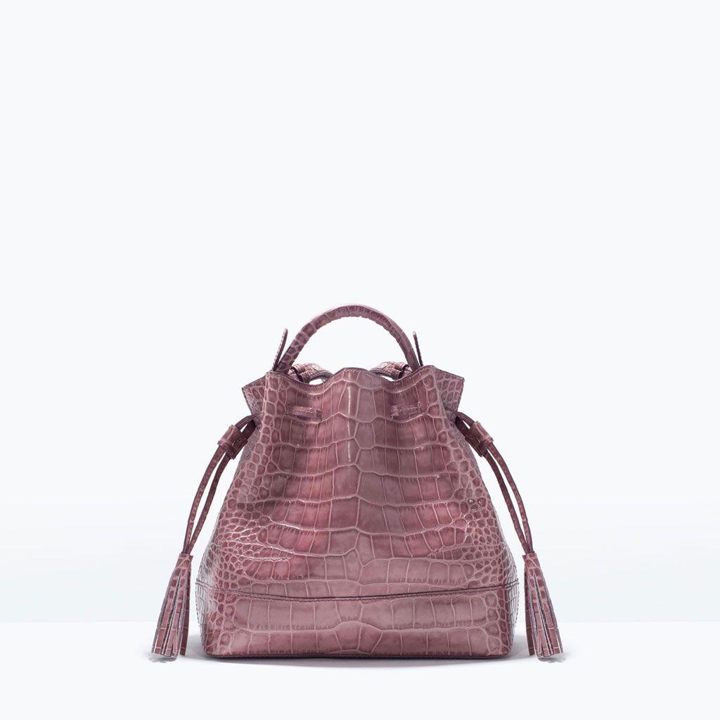 Mini leather tote bag zara - Mini Leather Bucket Bag Bags Woman Shoes Bags Zara Czech Republic