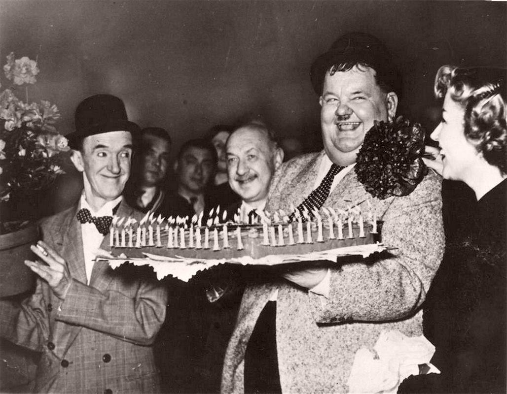 Happy Birthday...... early 1950's. Laurel und hardy