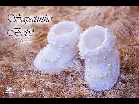 Botines de ganchillo para bebés Paso a paso Maestra Simone Eleotério