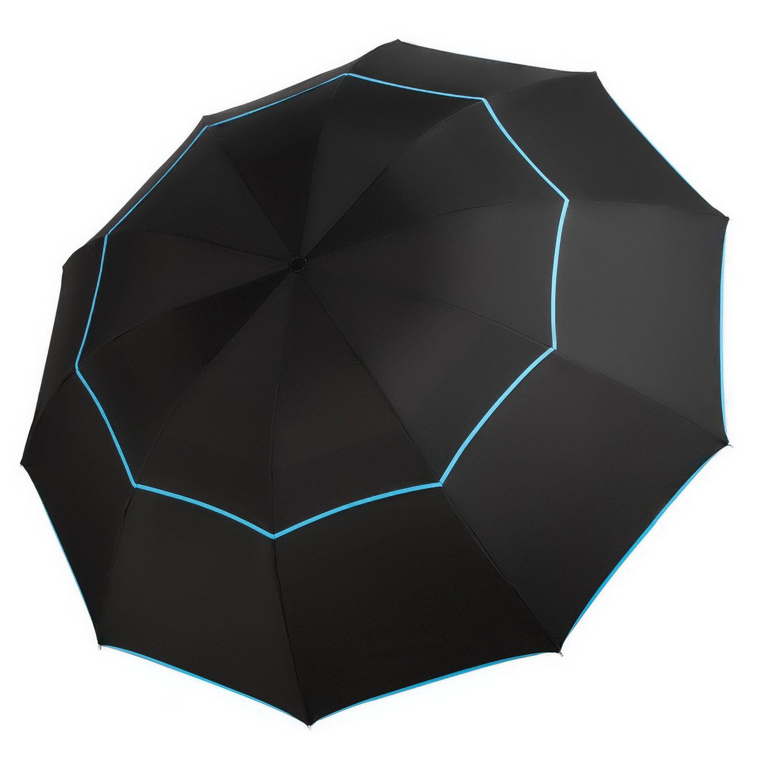 Travel Umbrella 63 Inch Extra Large Canopy Compact Double Waterproof For Outdoor
