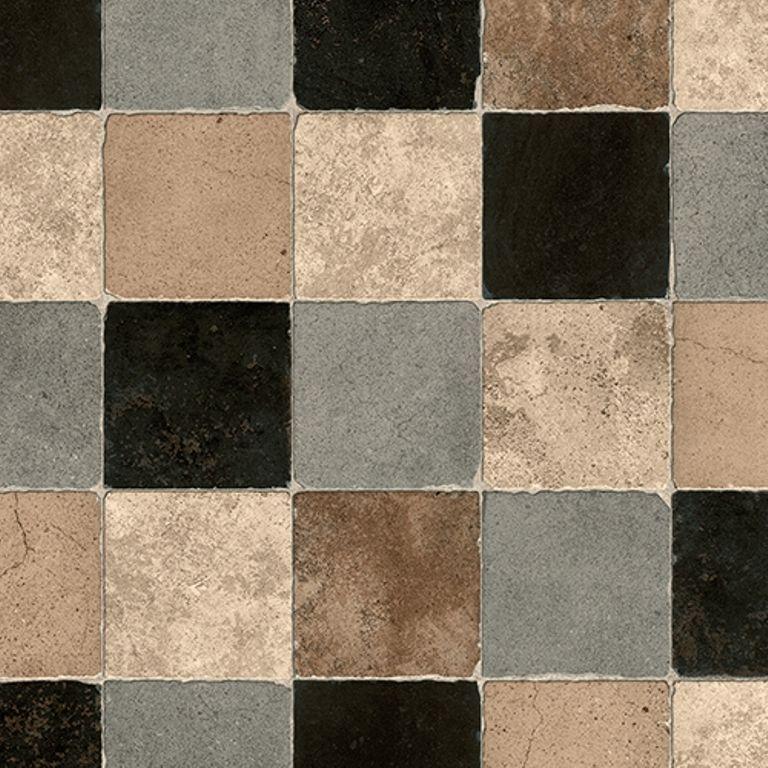 Details zu PVC Bodenbelag Fliesen / Kacheln Retro rustikal 400 cm