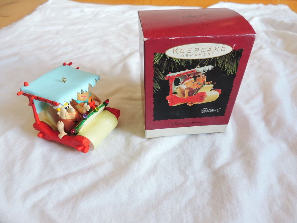 Hallmark Ornament The Flinstones Fred and Barney 1994 in box GREAT SHAPE