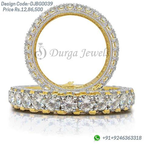 Define your drop-dead glamour with this glittering #Moissanite #Bangles and Make everyone mesmerized  Code : DJBG0039, Enquiry now @ http://bit.ly/1NIT1rt For Details Call Us on +91 92463 63318 , #Durgajewels , Basheerbagh or contact us @ http://www.durgajewels.com/contact-us