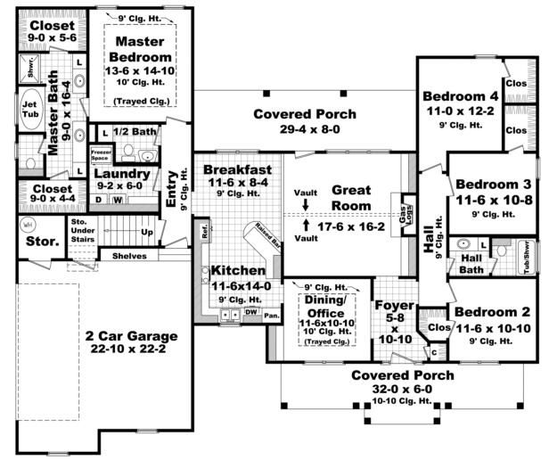 Really Cool House Floor Plans house plan 348-00119 - country plan: 2,100 square feet, 4 bedrooms