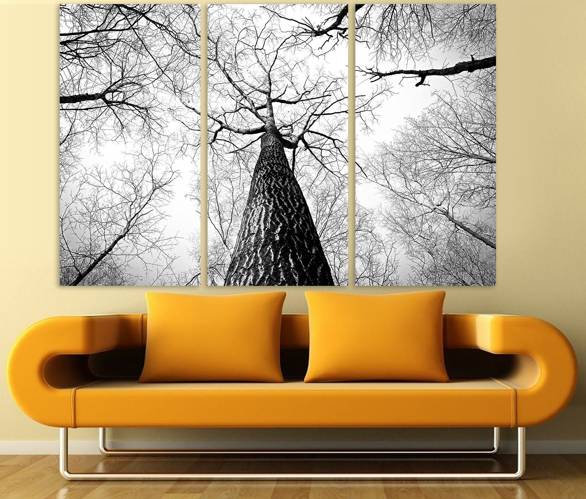 Forest photography canvas print extra large wall art