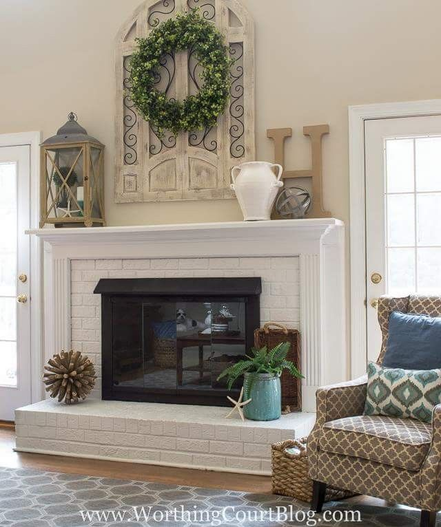 Living Room Mantel Decor How To Design Your Ideas Fireplace Fireplaces Mantels Brick Home Rustic Mantle Mantles Decorating For