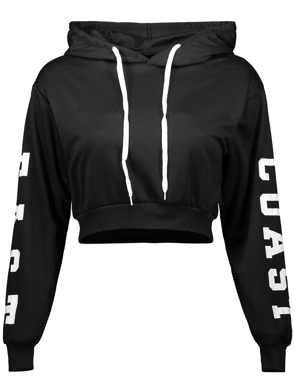 $14.52 Letter Cropped Pullover Hoodie   Pul   Mode vetement