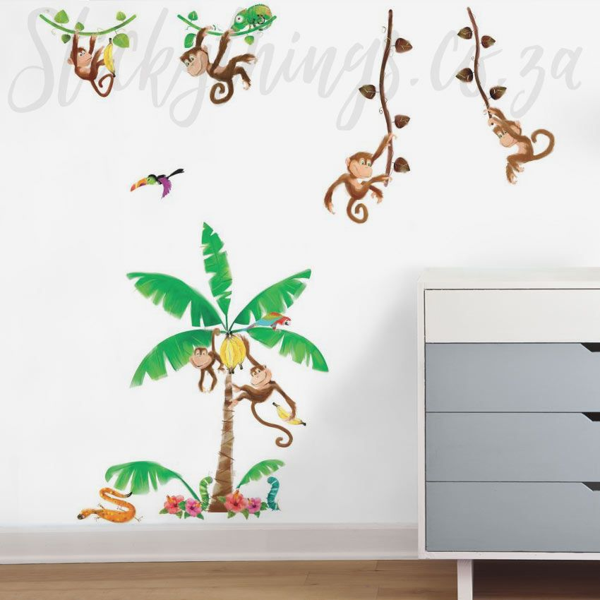 Monkey Wall Stickers Roommates Monkey Business Wall