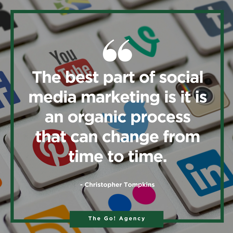 The best part of social media marketing is it is an organic