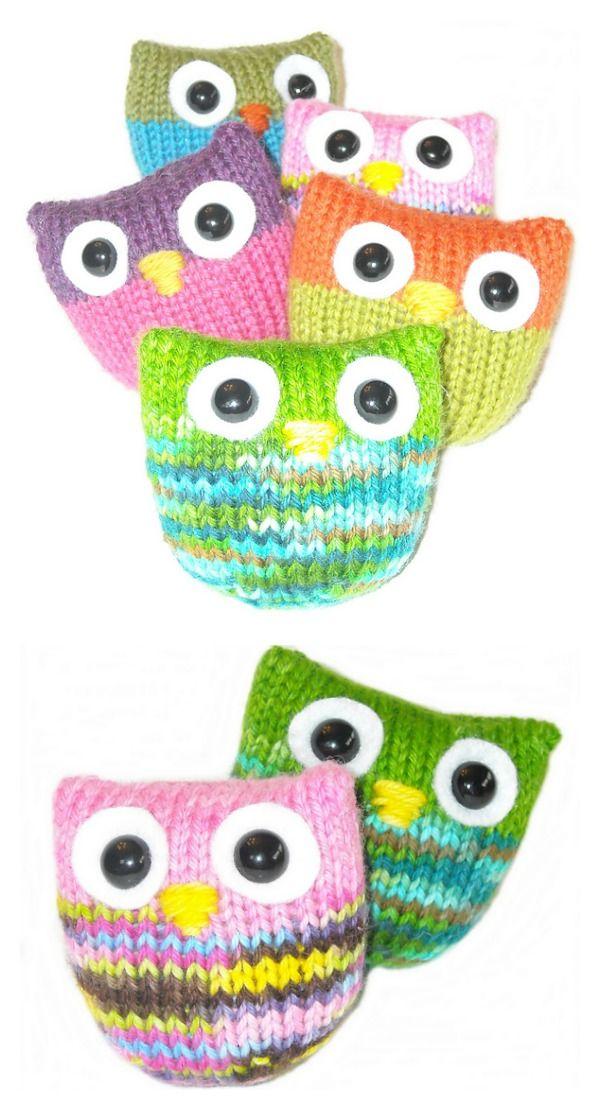 Adorable Puff Owl Free Knitting Pattern | Knit/Crochet | Pinterest ...
