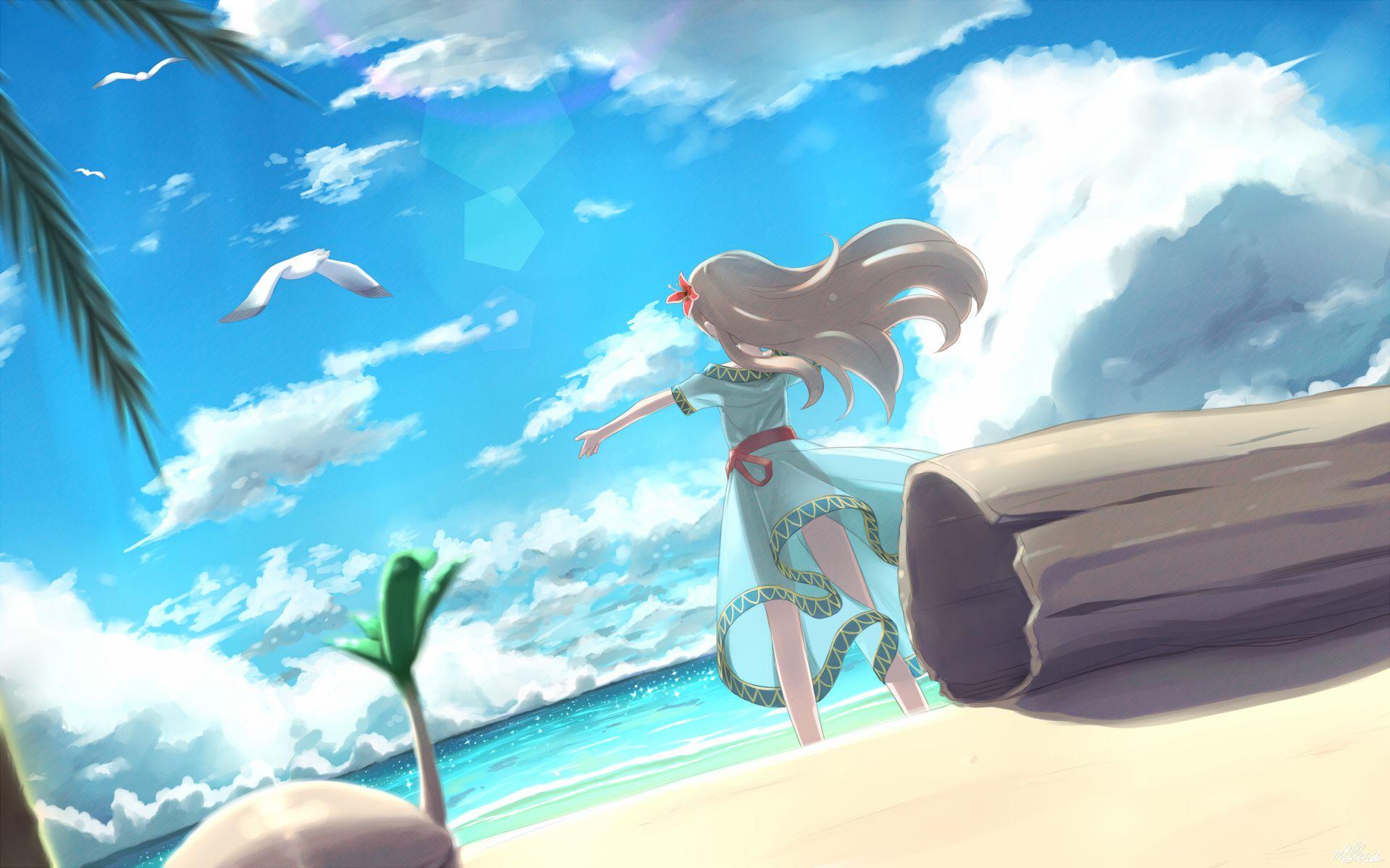 かぜのさかなのうた By Mille Legend Of Zelda Anime Wallpaper Cool Anime Backgrounds