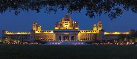Night seen of Umaid  Bhawan Palace- http://www.fortsandpalaceofrajasthan.com/umaid-bhawan-palace.html