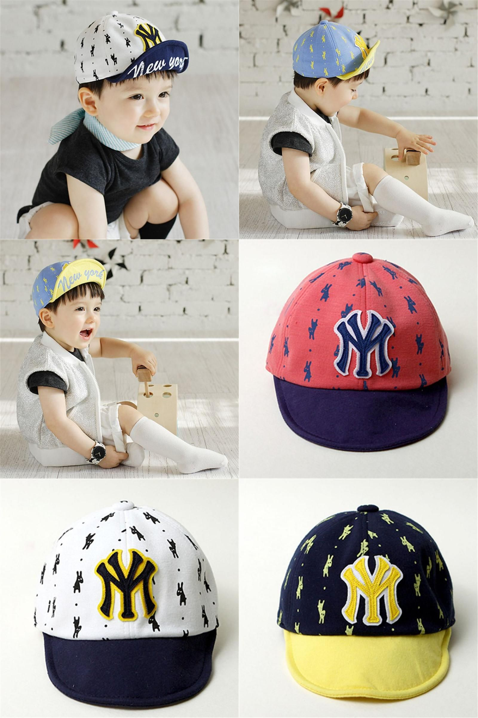 ed7a3d4a5a8  Visit to Buy  New Hot Baby Boy Gril Puppy Printed Letter Baseball Cap Kids