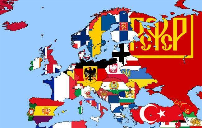 Risultati Immagini Per Flag Map Of Europe 1900