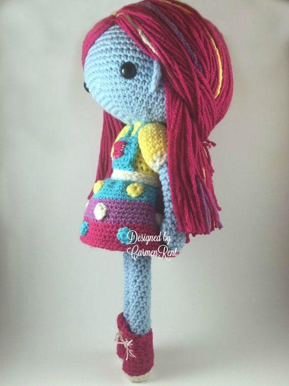 Luna Mae Amigurumi Doll Crochet Pattern PDF por CarmenRent | Muñecos ...