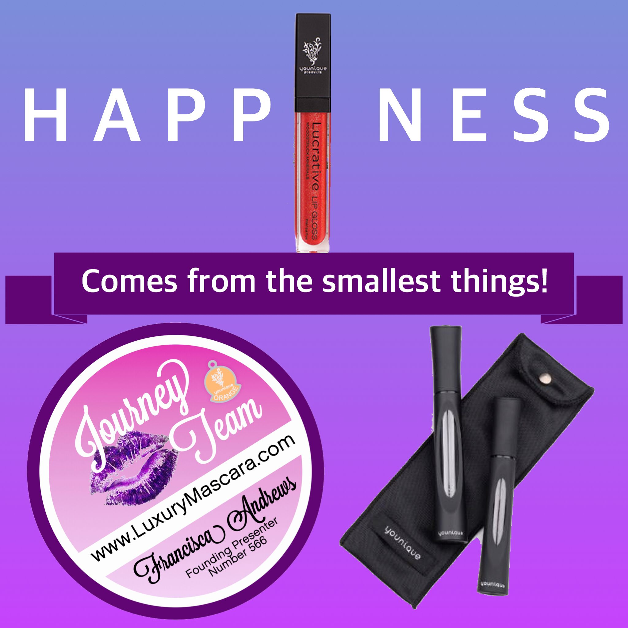 Have I mentioned how happy I am with our #Lucrative #lipgloss? Lips and lashes will complete your look every time! #LuxuryMascara #makeuplover #makeupaddict #Entrepreneur #Uplift #Empower #Motivate #UK #usa #Canada #Australia #NewZealand #France #Mexico #Germany #Deutschland #JourneyTeam #makeup #makeupaddict #makeupjunkie www.LuxuryMascara.com