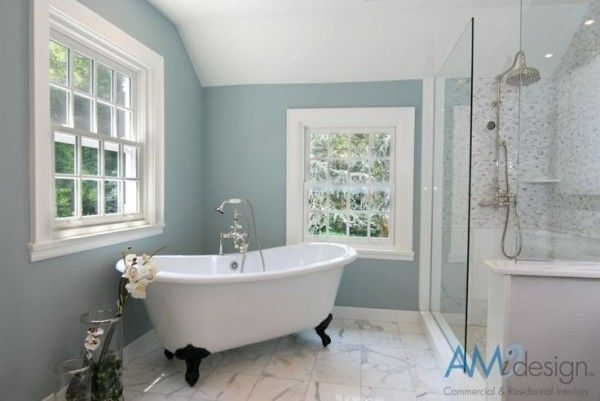 Top 16 Benjamin Moore Paint Colors Yarmouth Blue Is One Of The Best Light Blues Out There Paint Your B Bathroom Colors Bathroom Paint Colors Painting Bathroom