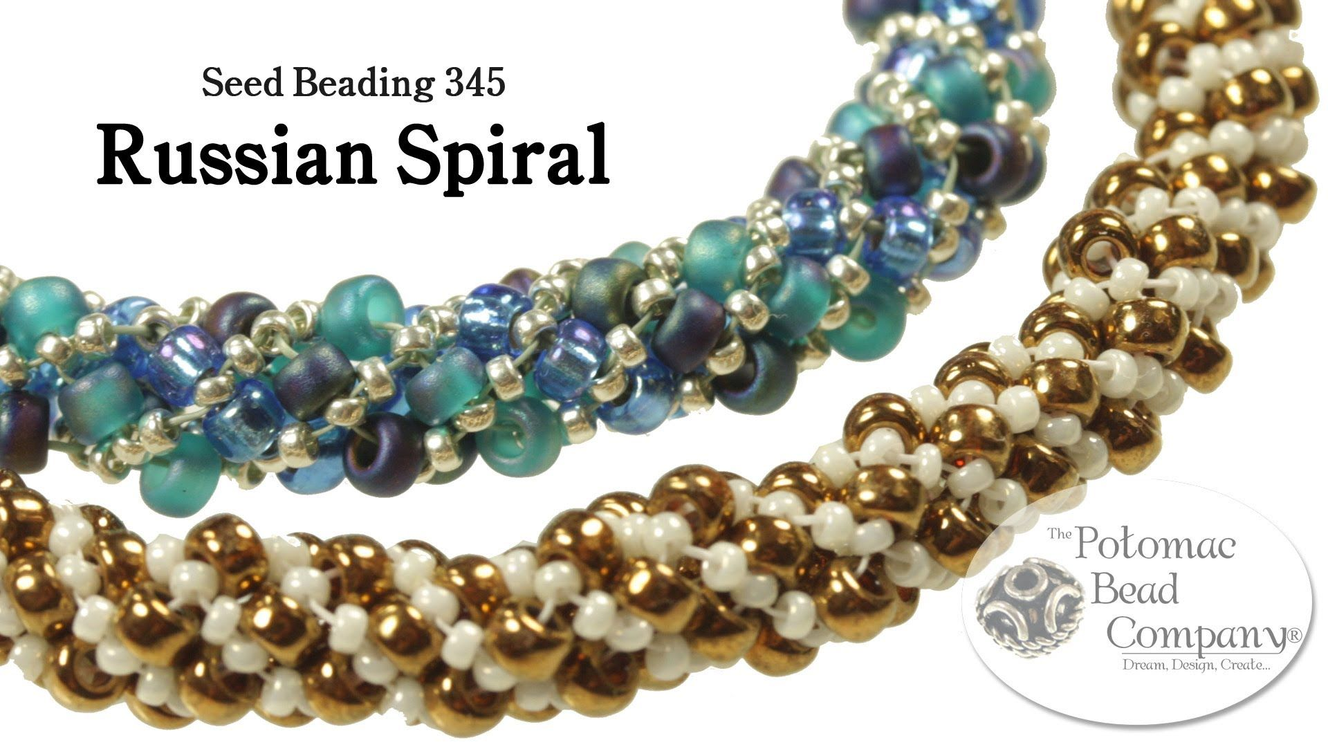Video make a russian spiral bracelet or necklace seed bead