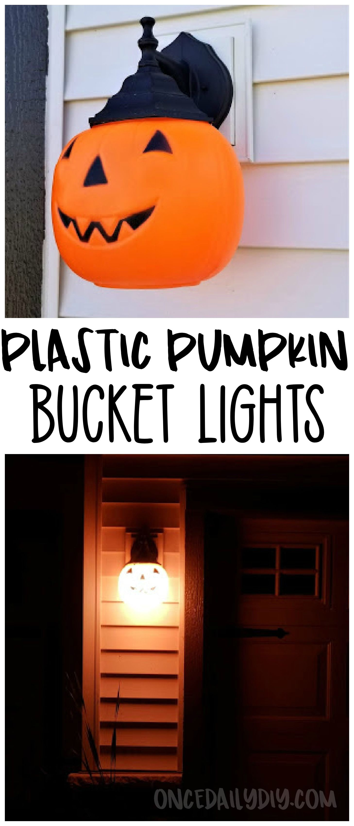 Use Dollar Plastic Pumpkin Buckets To Make Halloween Lanterns On - Use-pumpkins-to-decorate-your-house-for-halloween