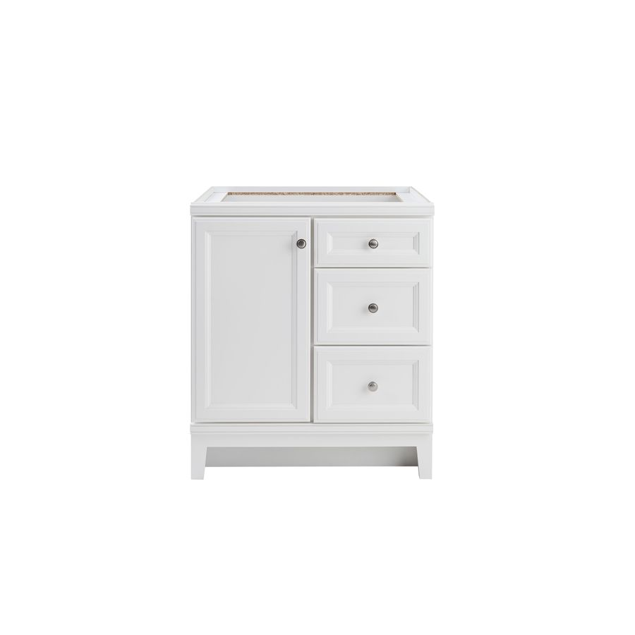 Diamond FreshFit Calhoun White Transitional Bathroom Vanity (Common: 30 In X  21