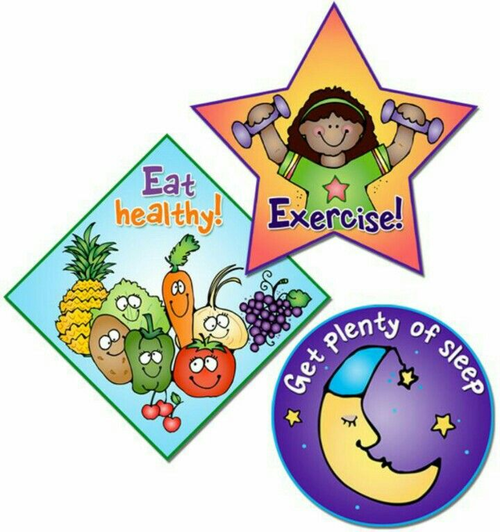 Eat Healthy Do Exercises For Make Your Body Flexible And Strong Take Healthy Nap For Fresh Mind And Body Relaxing Healthy Kids Clip Art Kids Health