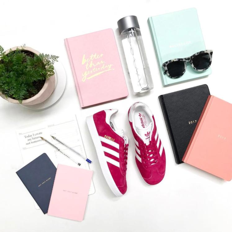 Adidas gazzella formatori in fucshia scarpe da ginnastica di moda