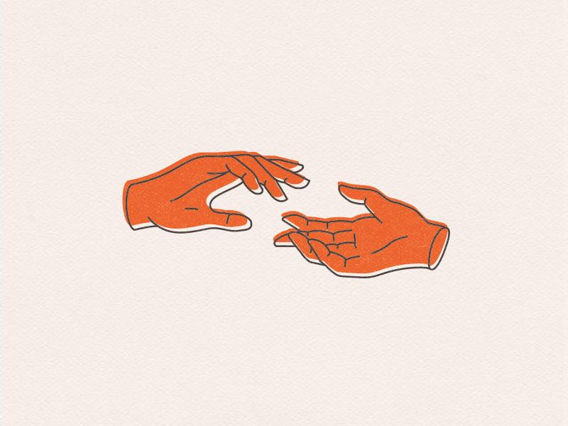 Illustration For A Helping Hand Hand Illustration Illustration Hand Outline