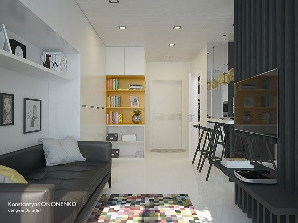5 apartment designs under 500 square feet design by konstantyn kononenko
