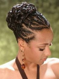 Super braids updo for black women cornrow high bun Ideas #bunshairstylesforblackwomen