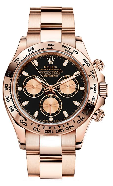 Rolex Rose Gold Daytona 116505 Black #rolexwatches