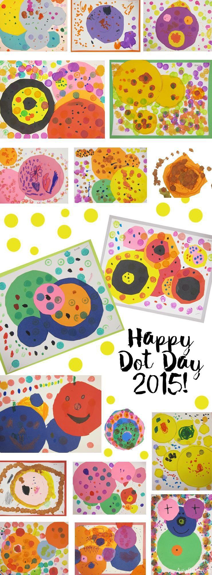 Art Project for Dot Day   Dot Day 2019   Kindergarten art