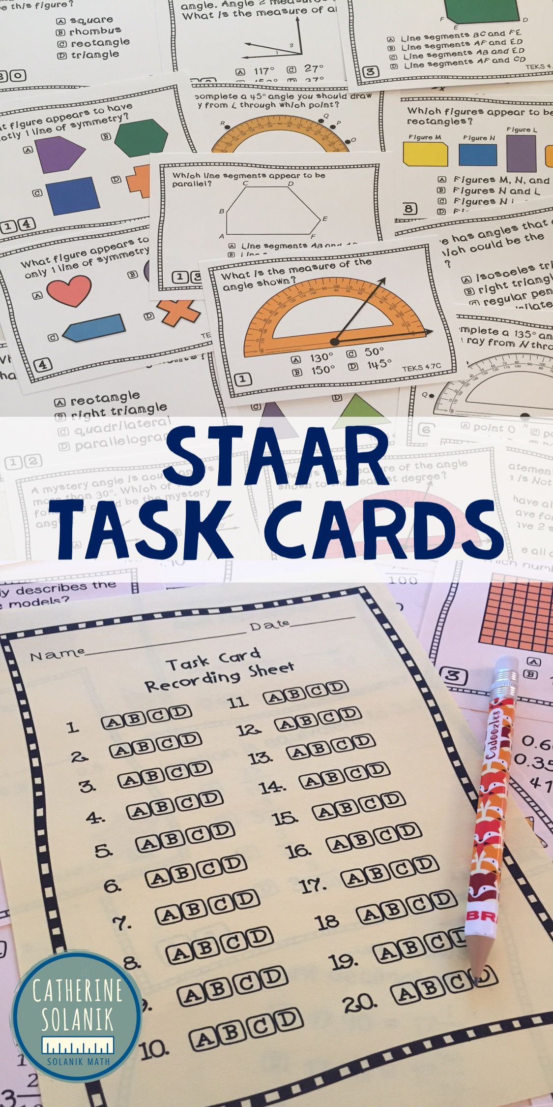 Staar And Teks Aligned Task Cards With Common Core And