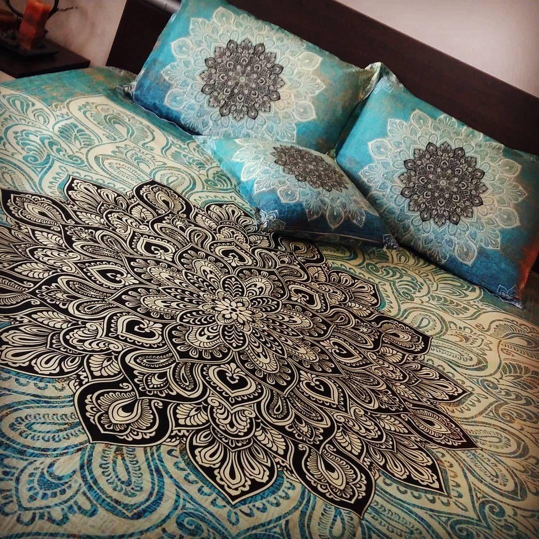 amusing green turquoise bedroom | Mandala bedding, Turquoise green Lace mandala duvet cover ...