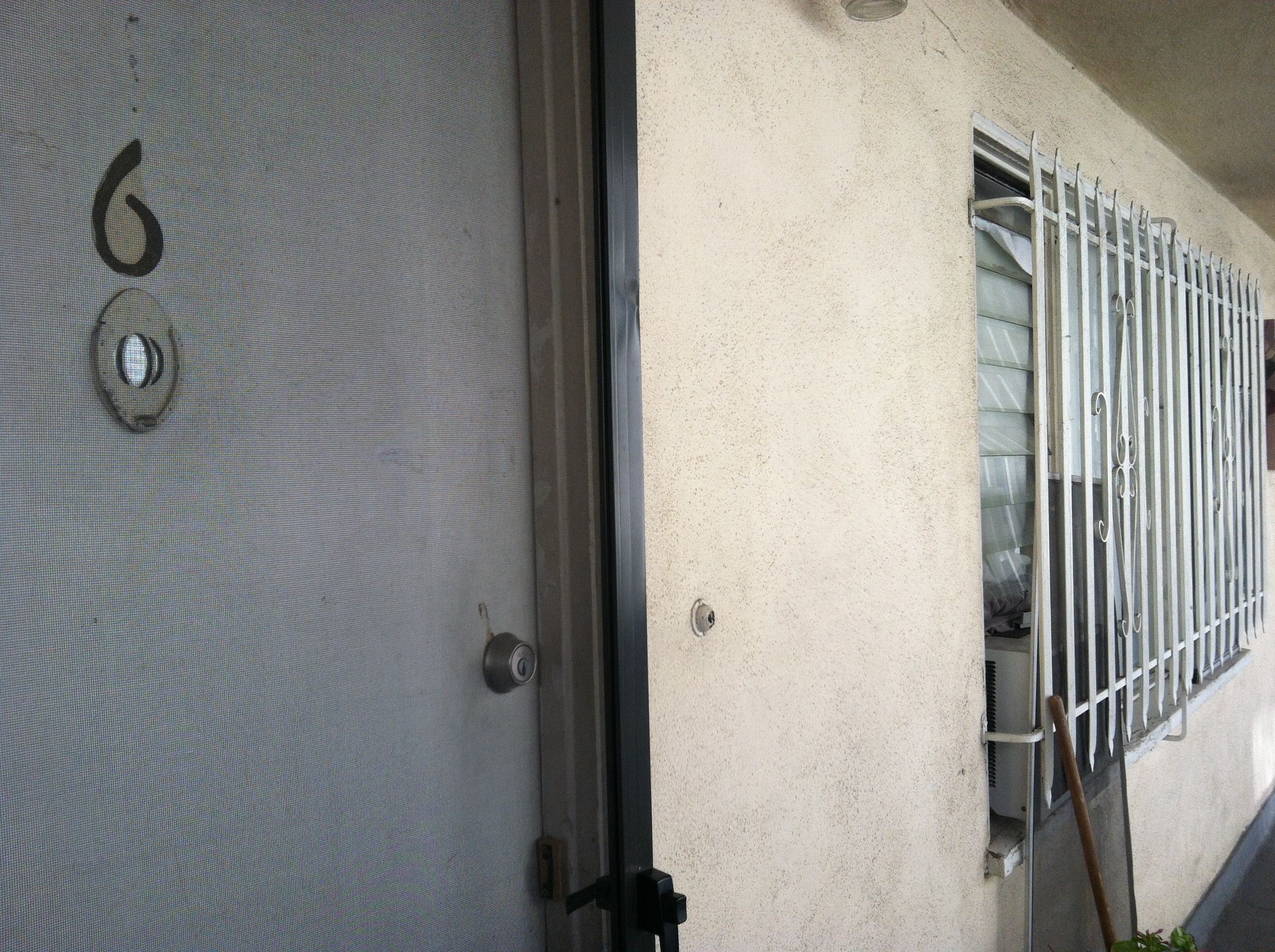 sept 17 - apartment 6 ac unit with bars on window | Hawthorn Ave ...