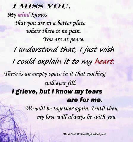 We miss you poem