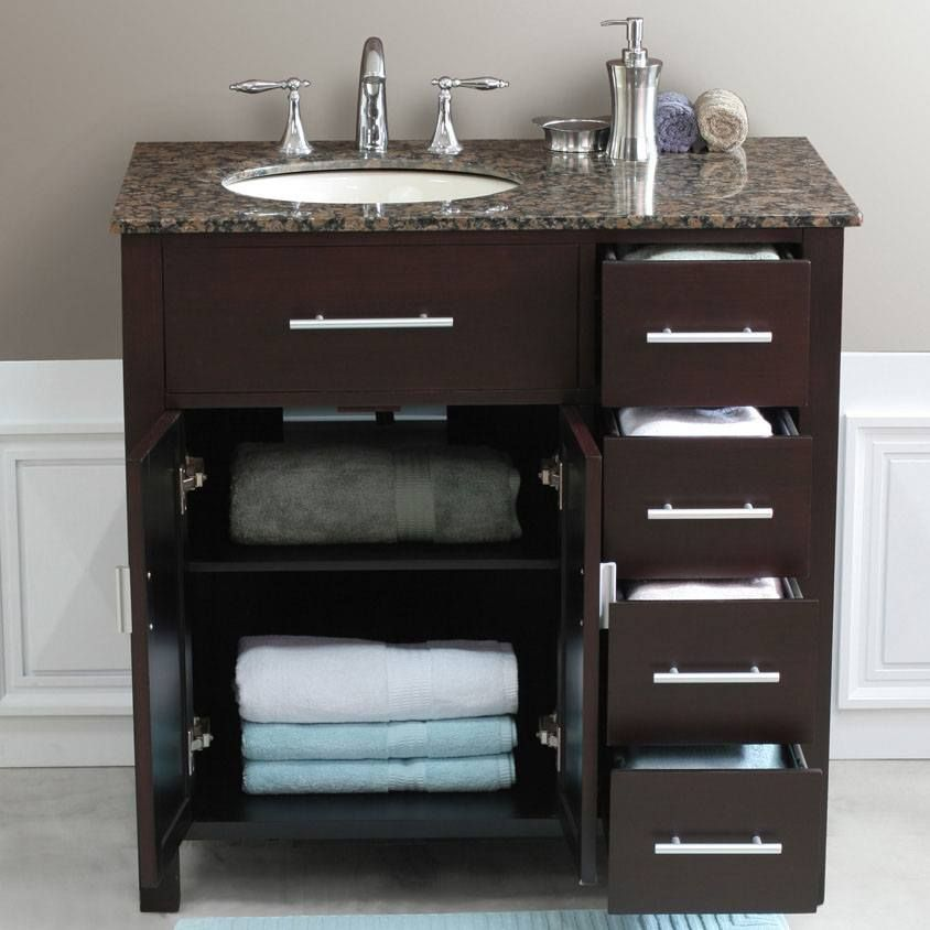 Beautiful 36 Inch Bathroom Vanity With Top
