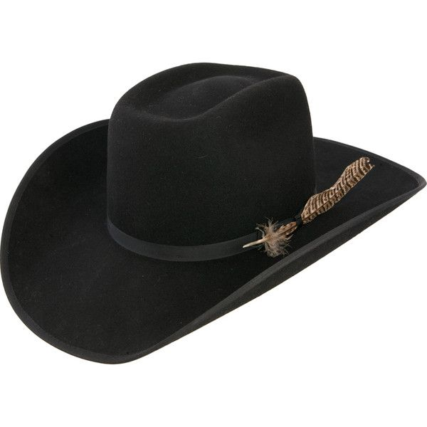Resistol 4X Tuff Hedeman Holt B Black Felt Cowboy Hat ( 100) ❤ liked on  Polyvore featuring accessories 86eacfa1bc6f
