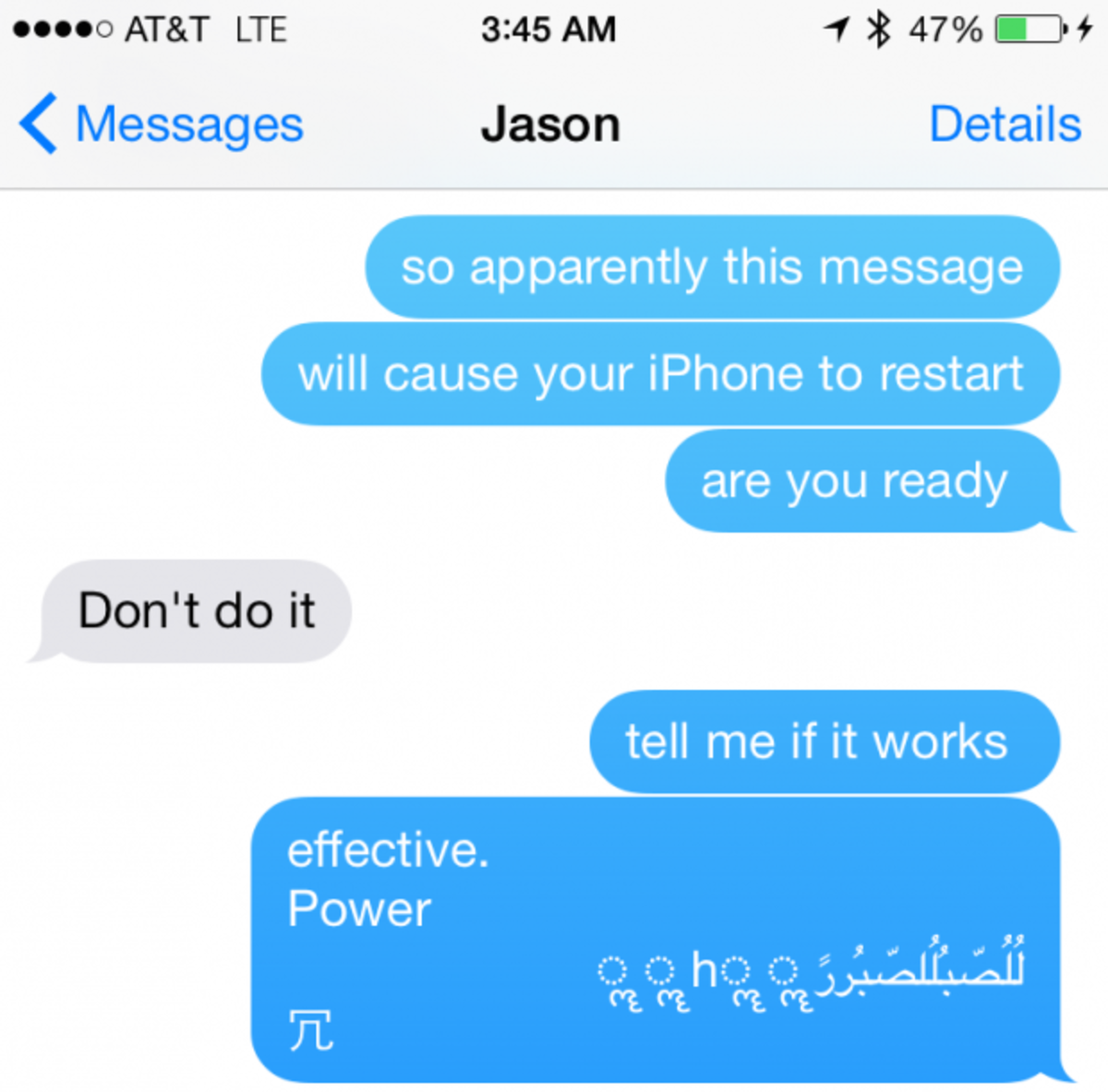 Security Loophole Simple Text Message Can Cause IPhone To